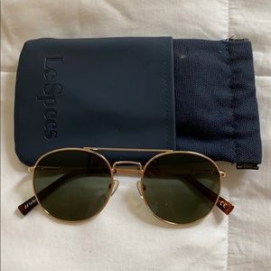 LeSpecs Gold/Brown Sunglasses